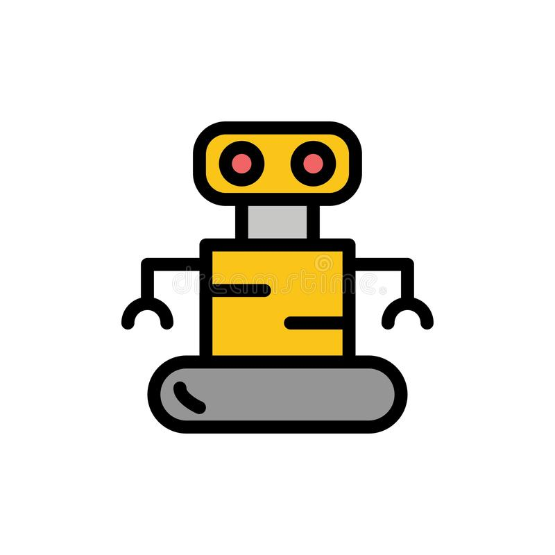 Exoskeleton, Robot, Space  Flat Color Icon. Vector icon banner Template stock illustration