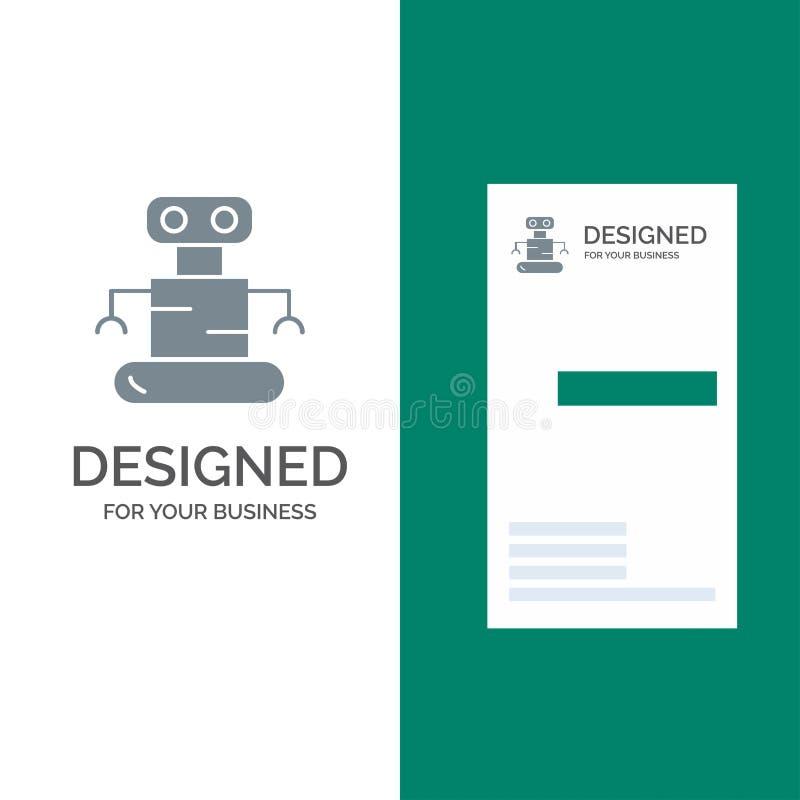 Exoskeleton, Robot, Space Grey Logo Design and Business Card Template stock illustration