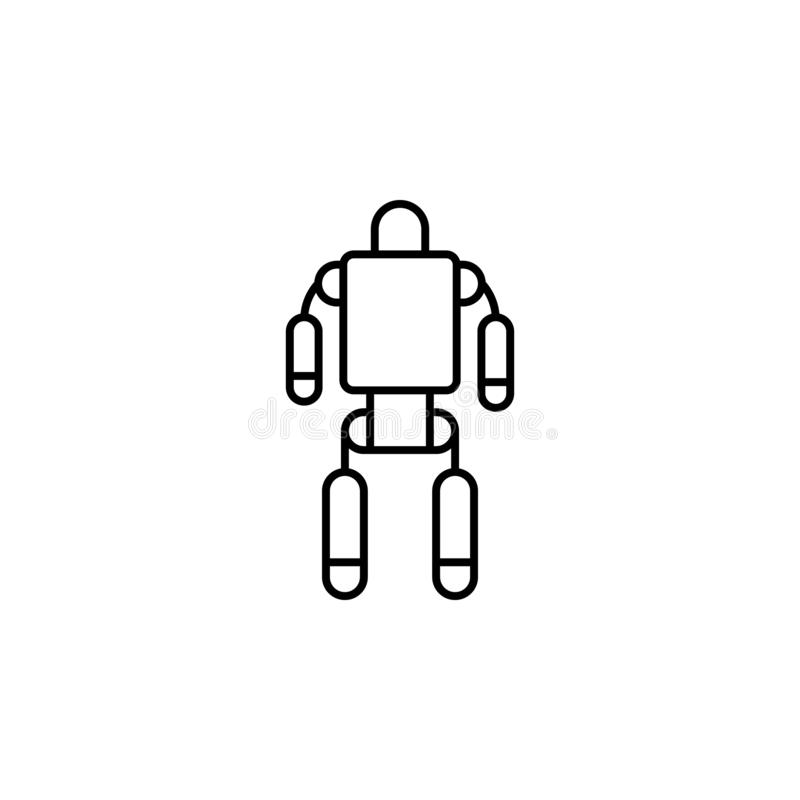 Exoskeleton, robot, space icon. Simple thin line, outline  of space, cosmos, universe icons for UI and UX, website or mobile. Application on white background royalty free illustration