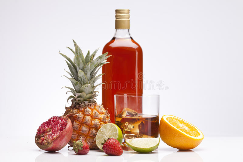 Download Exotic Alcohol Drinks, Set And Whisky With Fruits Stock Photos - Image: 26322683