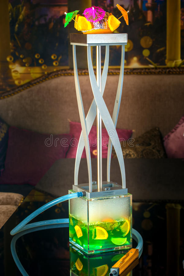 Exotic arabic hookah royalty free stock photos