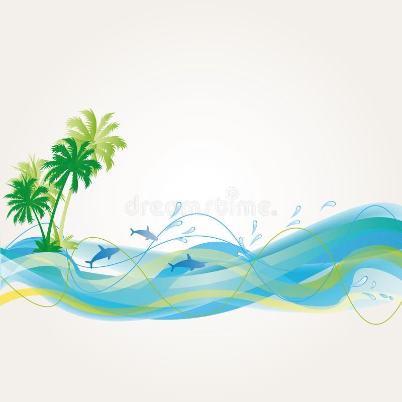 Exotic background vector illustration