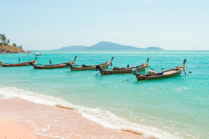 Exotic Bay of Rawai in Phuket island royalty free stock image
