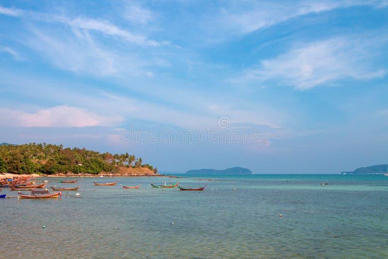 Exotic Bay of Rawai in Phuket island stock photo