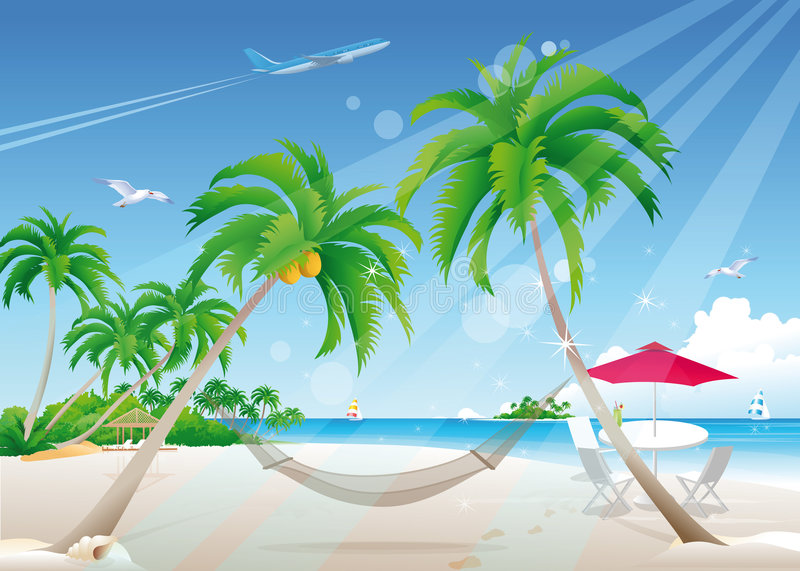 Download Exotic Beach Royalty Free Stock Image - Image: 5237376