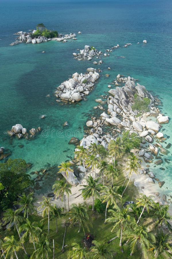 Exotic beach from high angle stock image