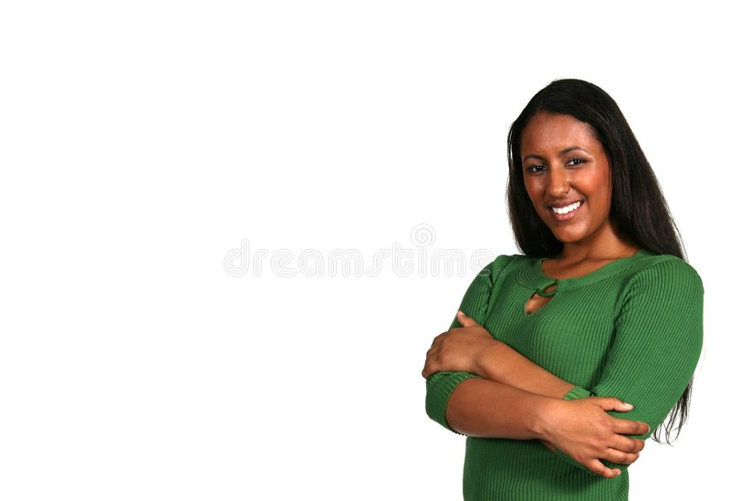 Exotic Beautiful Woman With Copy Space stock image