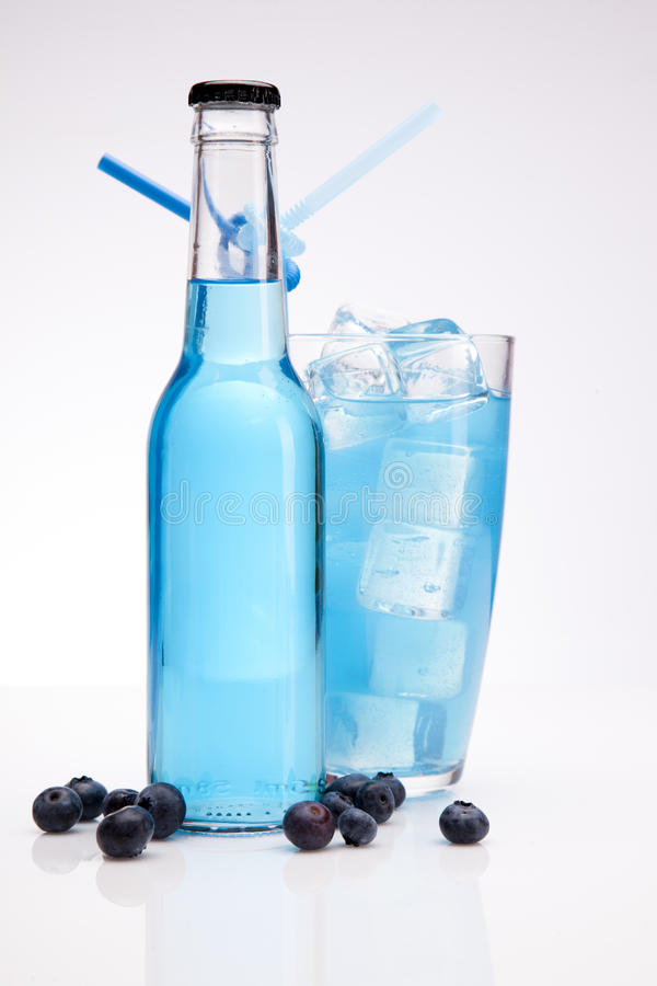 Download Exotic Blue Bottle Alcohol Cocktail Stock Image - Image: 26322505