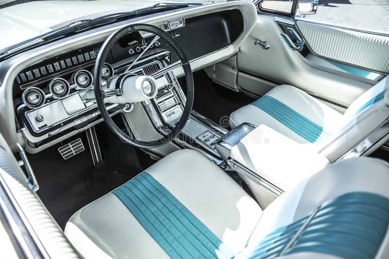 Exotic Car Interior. Exotic classic muscle car interior stock photos