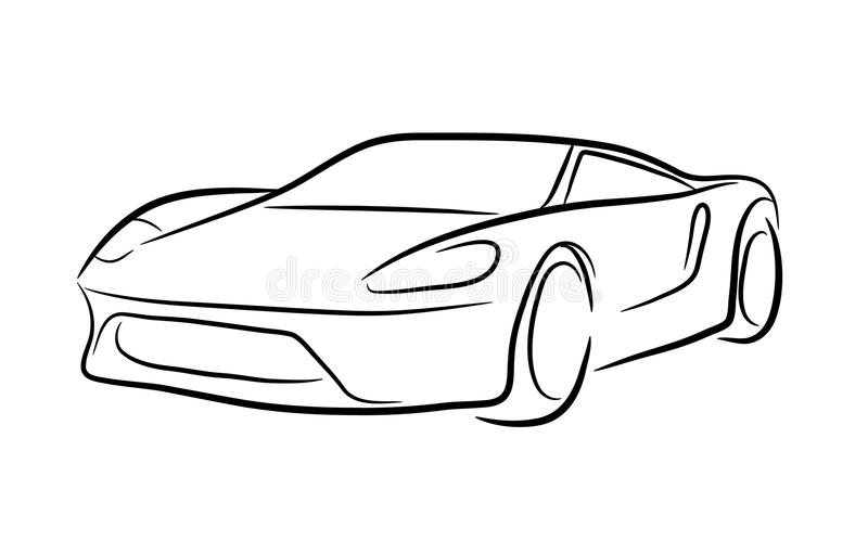 exotic car outline stock vector illustration of exotic classic car outline vector car outline vector free