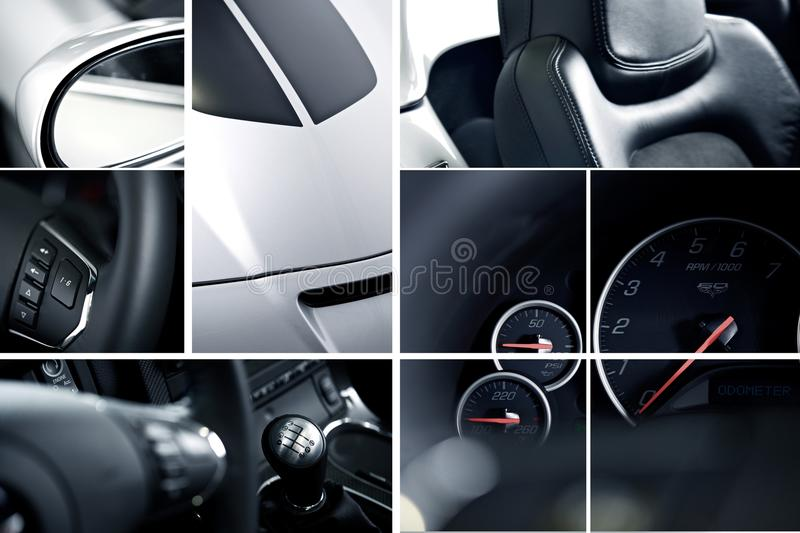 Download Exotic Cars Mosaic stock photo. Image of speedometer - 28325968