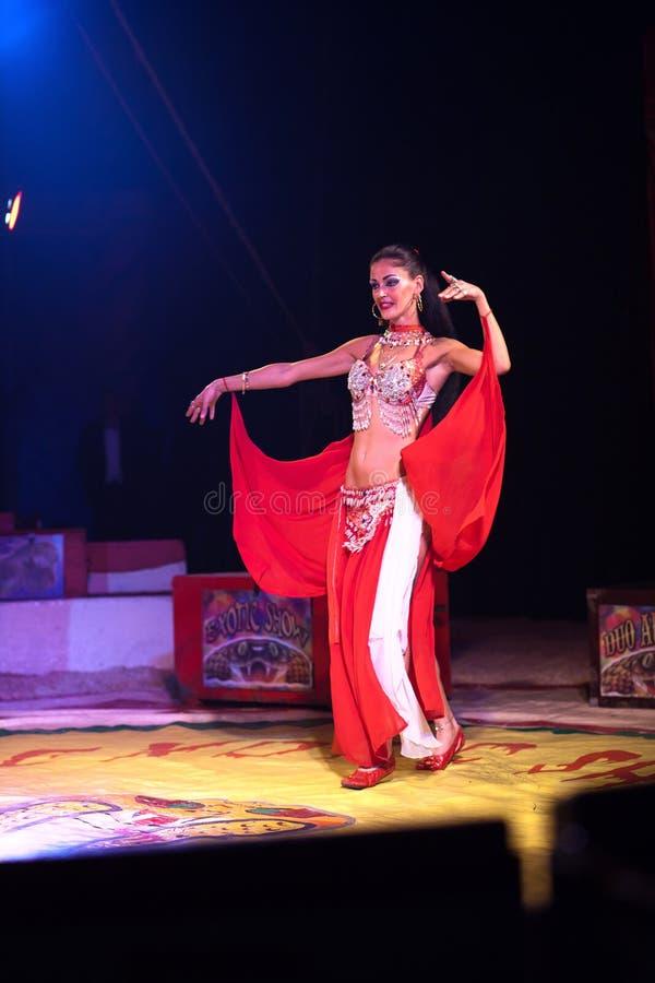 Exotic circus dancer