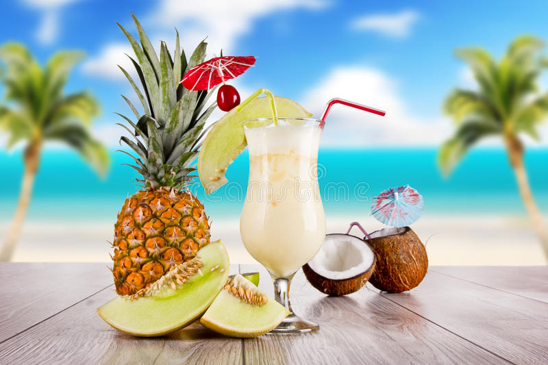Exotic cocktail royalty free stock photo