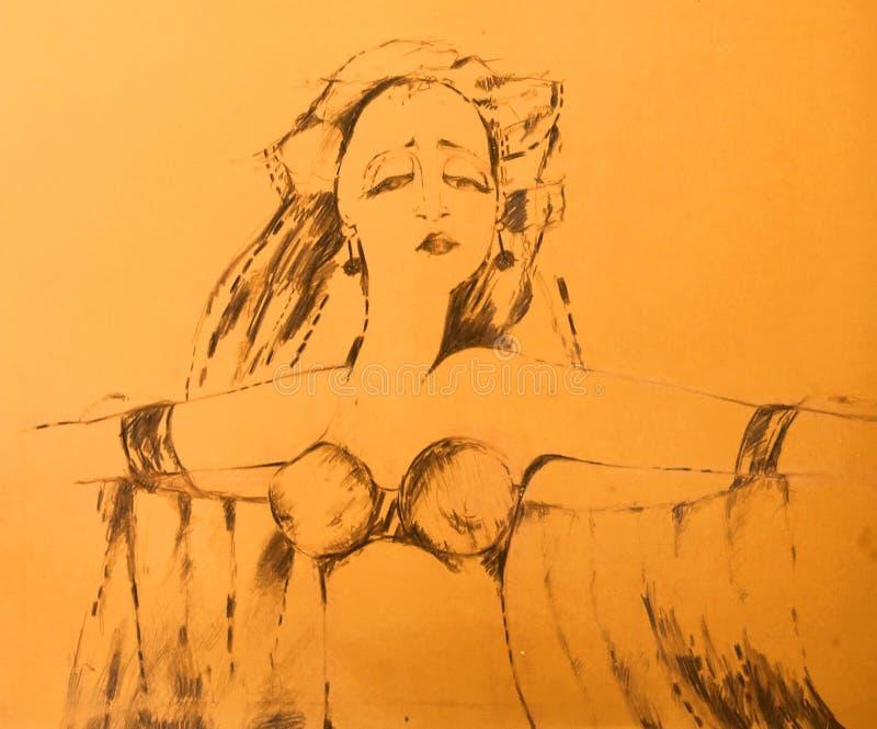 Download Exotic dancer stock illustration. Illustration of hair, sensual - 16454