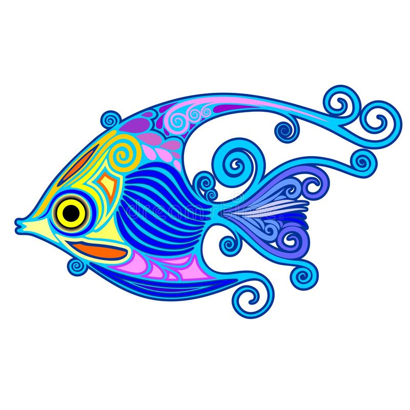 Download Exotic Fish Tattoo Decorative-2 Stock Vector - Illustration of decorative, cute: 88845360