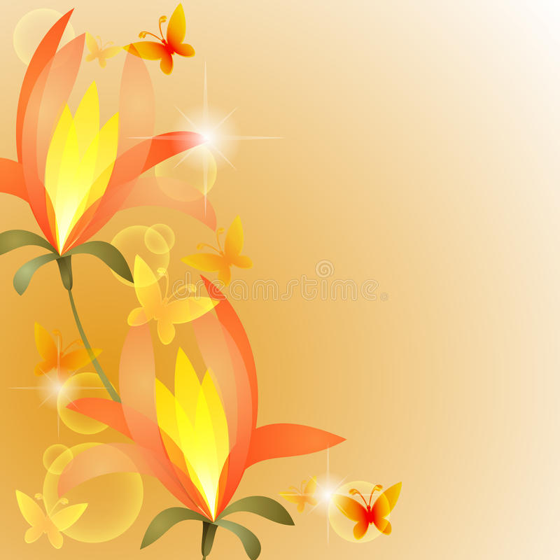 Download Exotic flower stock vector. Image of insect, yellow, invitation - 21590692