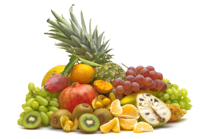 Exotic fruits stock photos