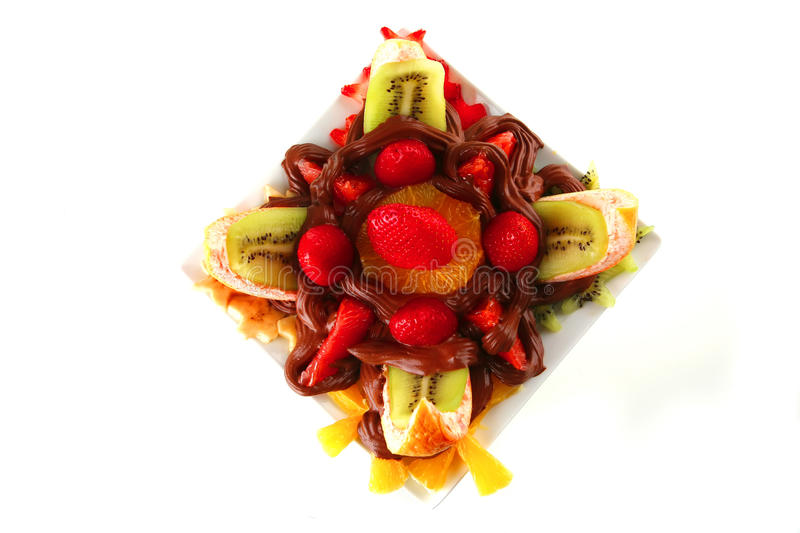 Download Exotic Fruits In Chocolate Cream Stock Image - Image: 14481845