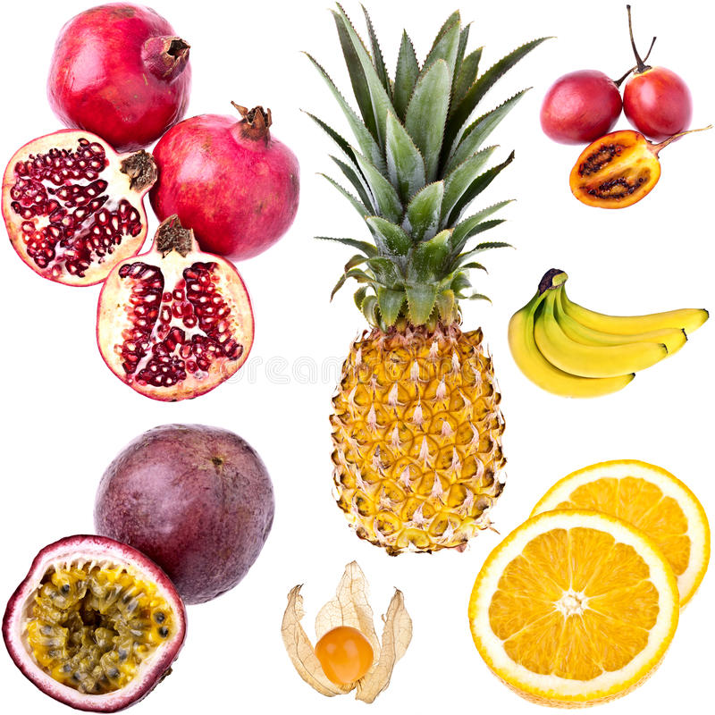 Free Exotic Fruits Collection Royalty Free Stock Photo - 17461225