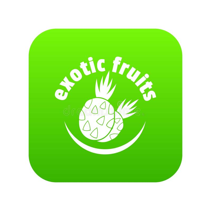 Exotic fruits icon green vector royalty free illustration