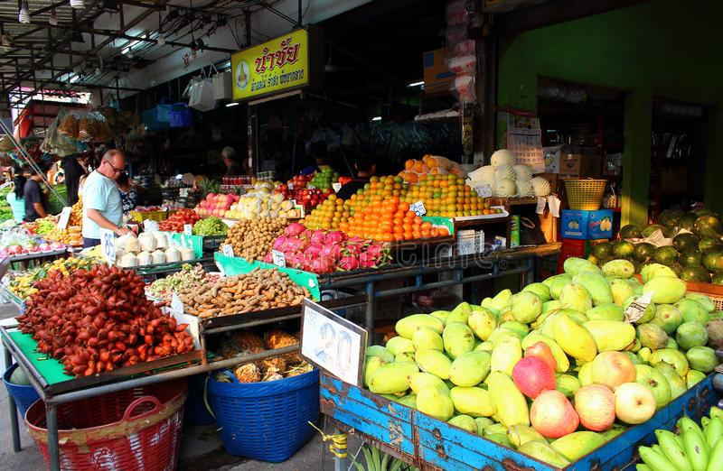Exotic fruits for sale stock photography