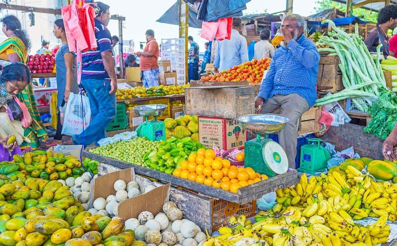 Exotic fruits at Sri Lankan market stock images