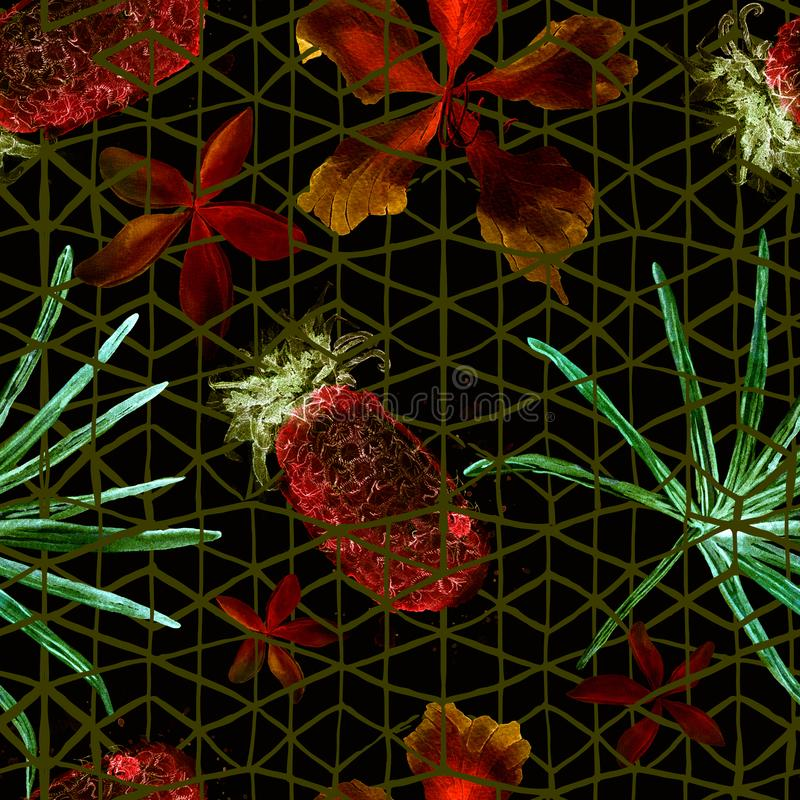 Exotic geometry seamless pattern. royalty free stock photos