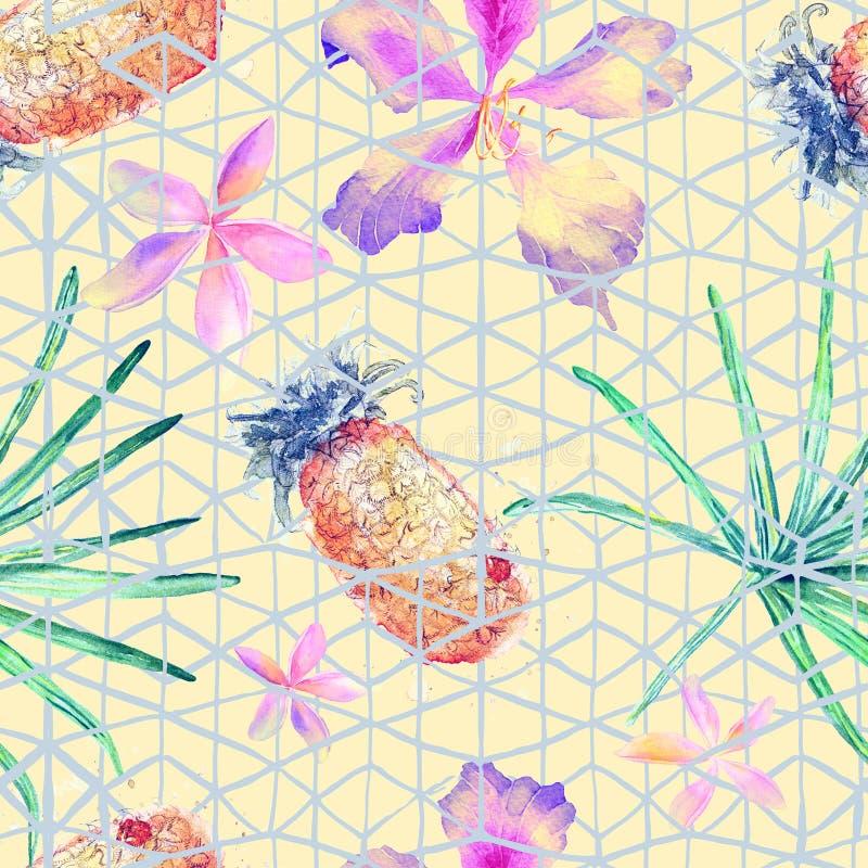 Exotic geometry seamless pattern. stock image