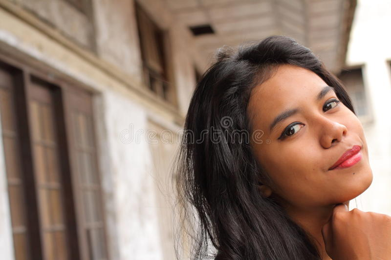 Exotic Indonesian Teen Asian Beauty Stock Photography