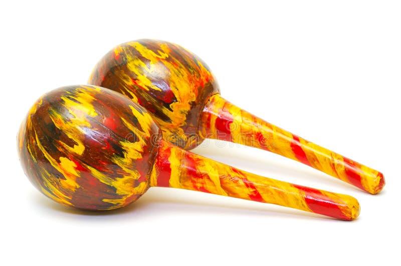 Exotic maracas stock photo