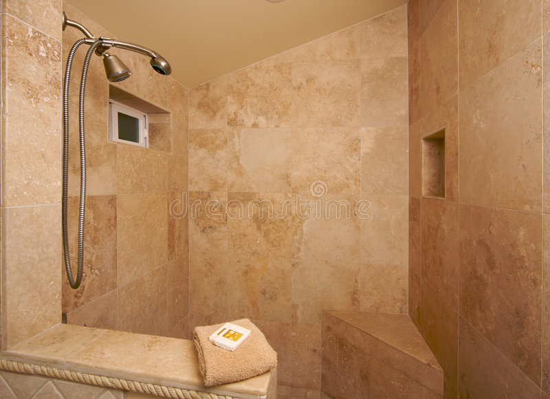 Exotic Marble Shower royalty free stock photography
