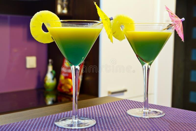 Exotic Martini Cocktails Stock Photos