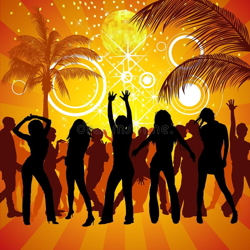 Download Exotic Party stock vector. Illustration of palm, audience - 19010563