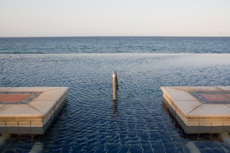 Exotic pool stock image