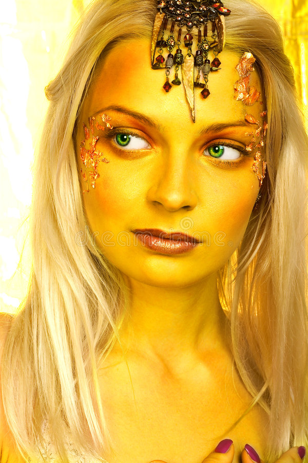 Exotic princess from legend. stock photo