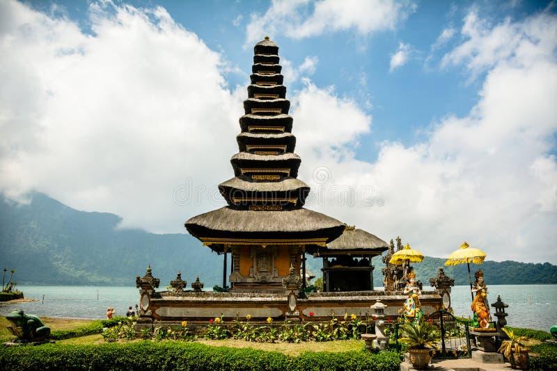 Exotic pura ulun danu beratan temple, bali royalty free stock photo