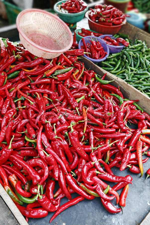 Exotic Red Chilli Stock Photos