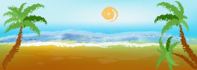 Exotic resort stock illustration