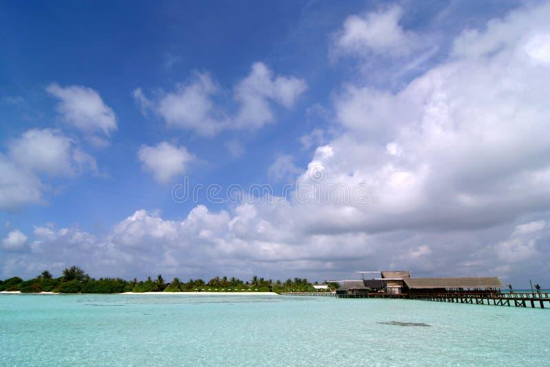 Download Exotic resort in Maldives stock photo. Image of sand, destination - 9298904