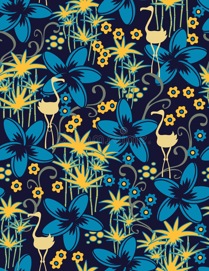 Free Exotic Seamless Pattern Royalty Free Stock Photography - 10928707