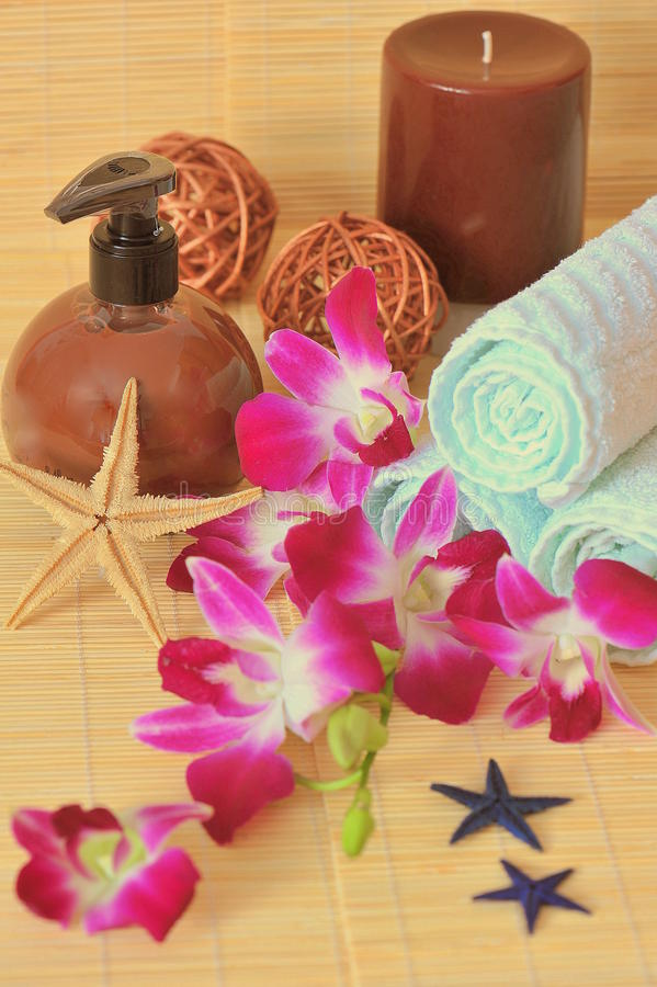 Exotic Spa Products - Composition Stock Photography