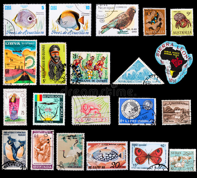 Exotic Stamps Stock Photos