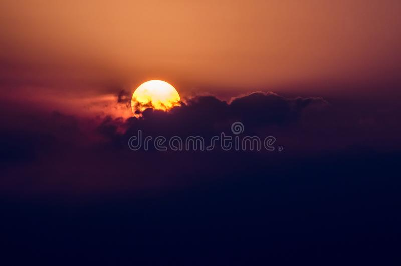 The Exotic Sundown of Bali Indonesia royalty free stock images