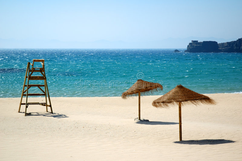 Exotic, sunny beach stock image