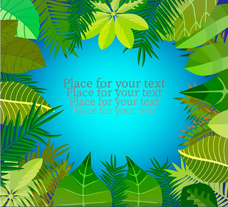 Free Exotic Tropical Jungle Floral Frame Stock Photos - 108880553