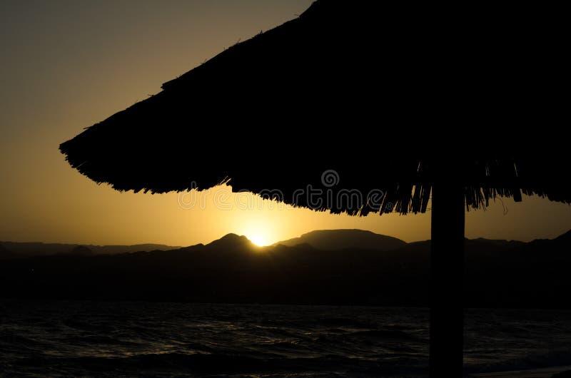 Exotic Vacation Sunset Stock Photo
