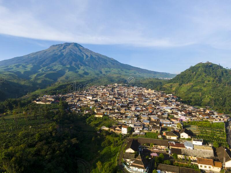 Exotic village in Wonosobo, Central Java, Indonesia. A very exotic village at the foot of Mt. Sumbing, located in Wonosobo, Central Java, Indonesia is even more stock photography