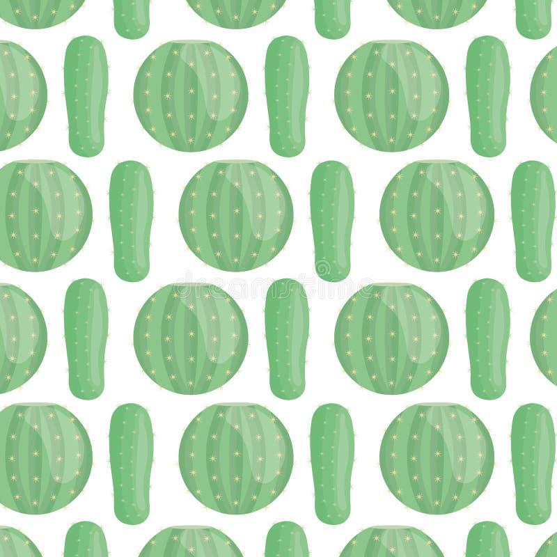 Exotics cactus plants natural pattern stock illustration