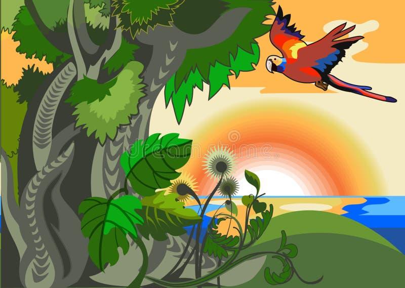 Exotisch eiland stock illustratie