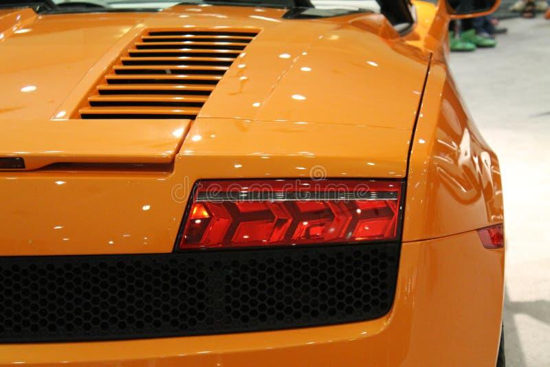 Exotisch Italiaans sportwagendetail royalty-vrije stock afbeeldingen
